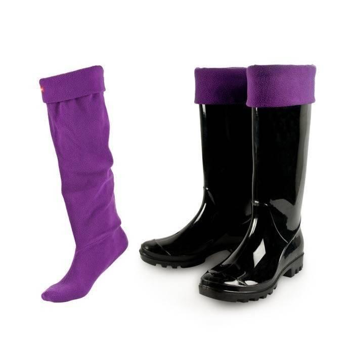 Calzini da donna classici SOXO per stivali di gomma suola ABS viola ... 577137db681e