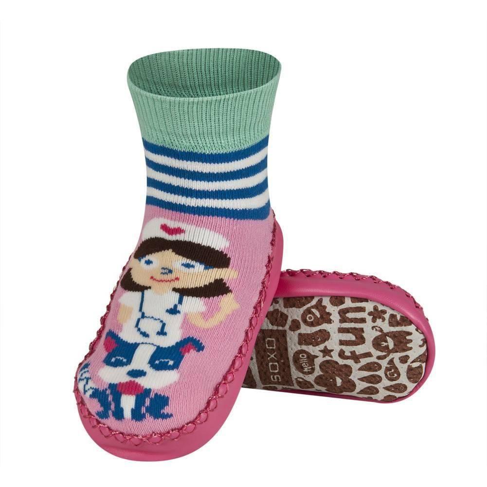 buy popular 6f39a 01d16 Pantofole da bambina SOXO con la bimba suola di pelle