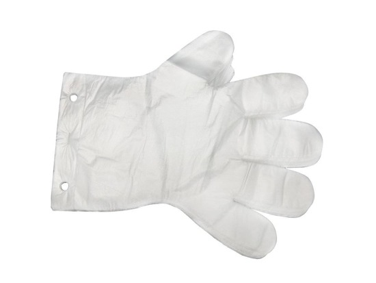 Protective HDPE gloves size 9-L foil strong 100 pieces